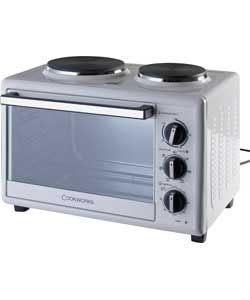 Buy Cookworks KHB28RC10SKH Mini Oven with Hob White at