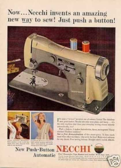 Necchi Sewing Machine 40 Old Ads Pinterest Sewing Vintage Extraordinary Old Necchi Sewing Machine
