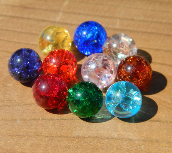 10 10mm Fried Cracked Crackle Glass Marbles For Etsy Crackle Glass Interchangeable Jewelry Glass Marbles