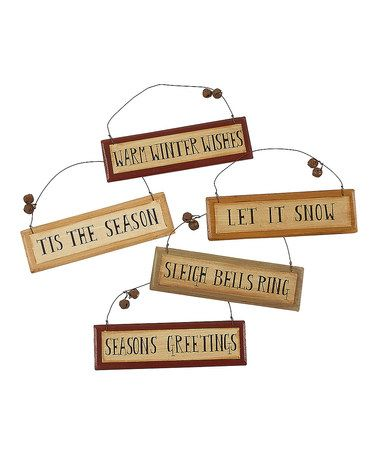 Take a look at this Sleigh Bell Ornament Set by Collins on #zulily today!