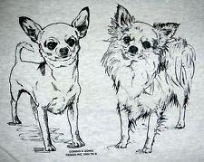 Two Chihuahuas Long Hair Short Hair Coming Going Hanes T Shirt Small 5xl Dog Artwork Dog Drawing Chihuahua Art
