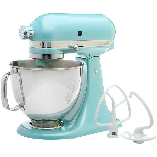 KitchenAid RRK150AZ Azure Blue 5-quart Artisan Tilt-Head Stand Mixer (3,715 MXN) ❤ liked on Polyvore featuring home, kitchen & dining, small appliances, kitchen aid stand mixers, kitchenaid standing mixer, kitchenaid, kitchen aid standing mixer und kitchenaid stand mixer
