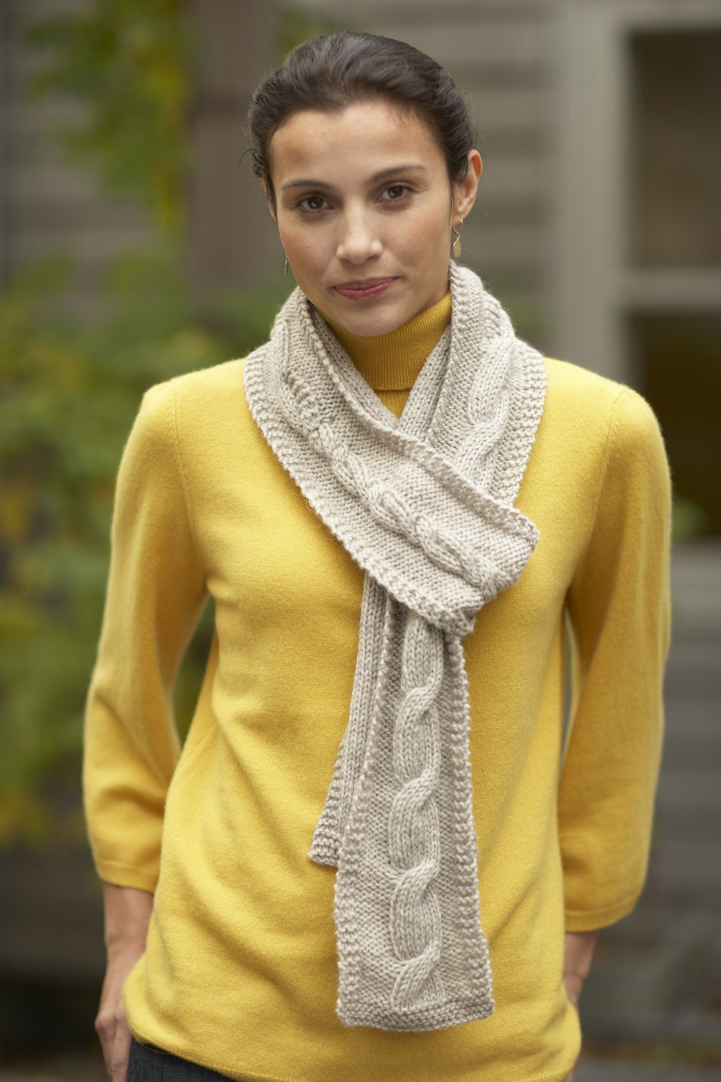 Simple Cable Scarf (Knit) | Knitting patterns free scarf ...