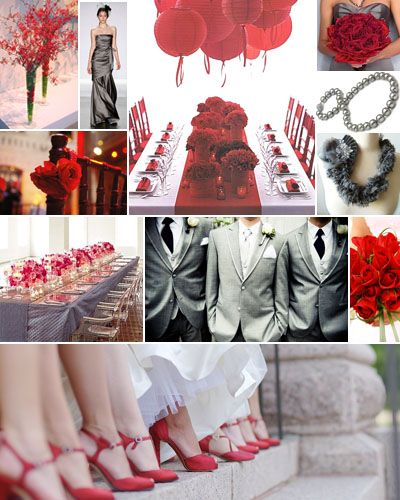Red Bouquet Wedding, Wedding Colors