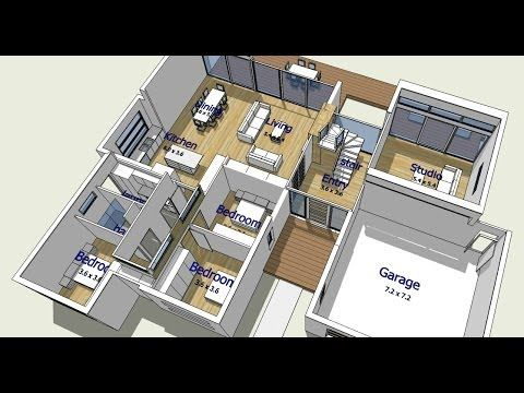 Design Your Own House An Introduction to TreblD and SketchUp - logiciel dessin maison d
