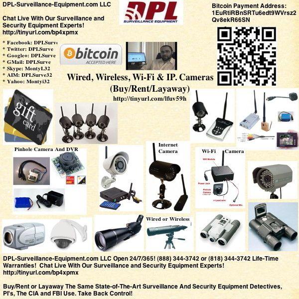 Wired, Wireless, Wi-Fi & IP. Cameras: http://www.dpl-surveillance ...