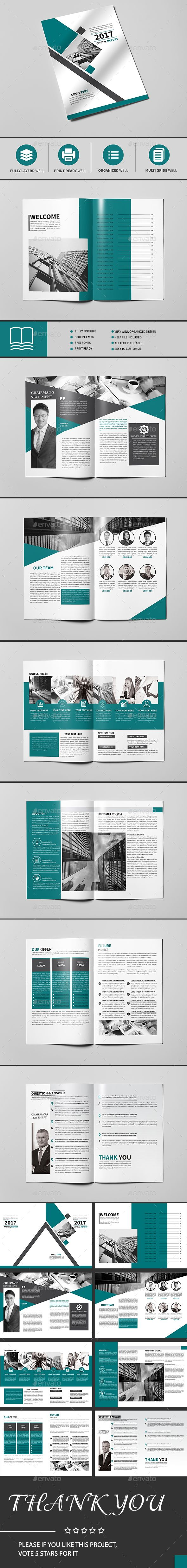 Corporate Brochure Template InDesign INDD | Brochure Templates ...
