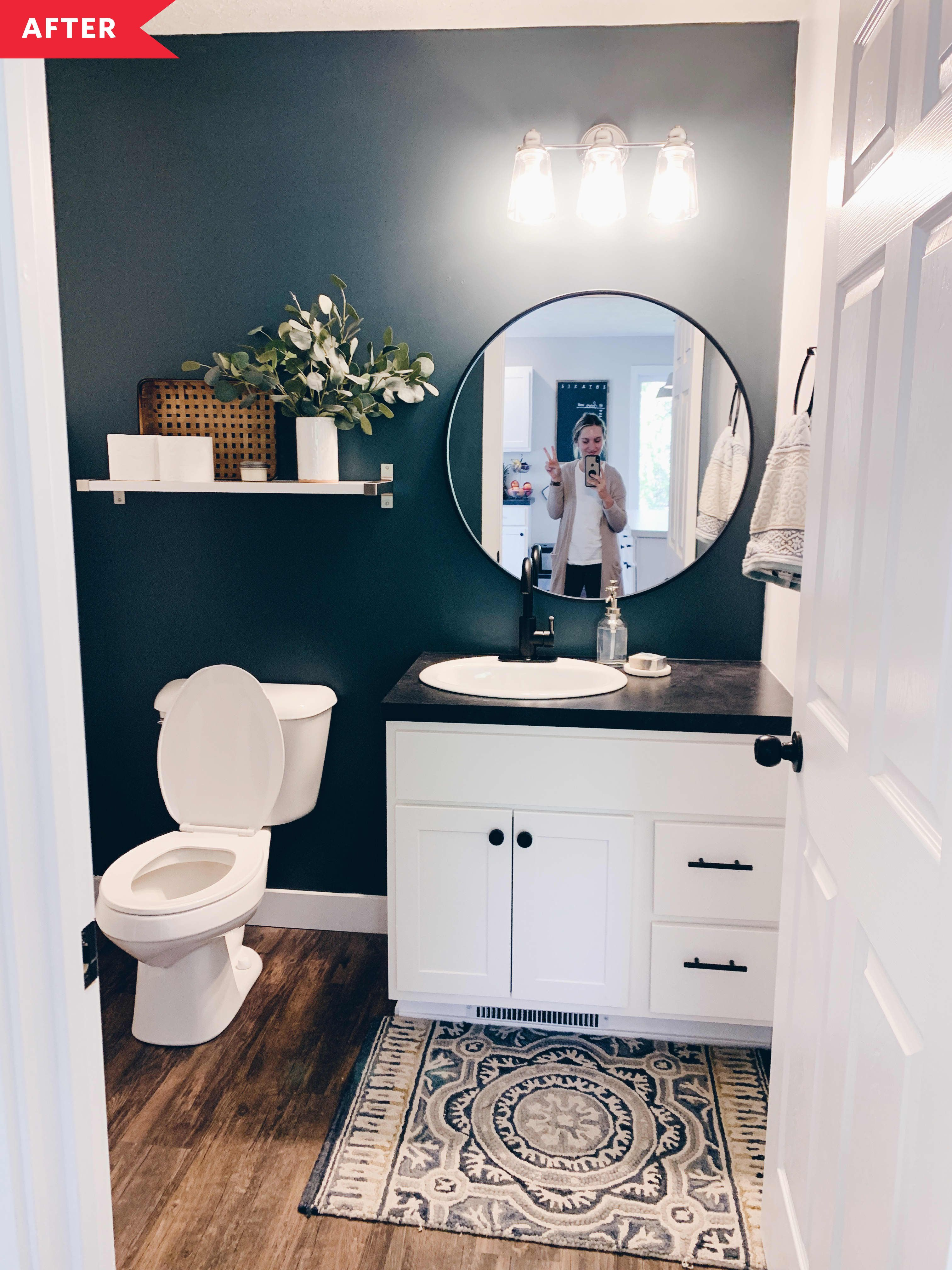 The Best Bold Wall Color Transformations We Saw This Year In 2020 Diy Bathroom Remodel Bath Makeover Small Bathroom Decor
