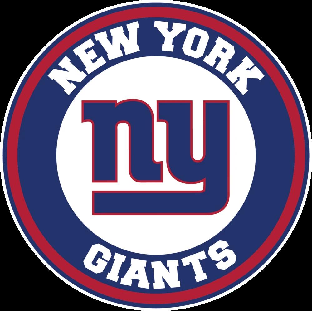 New York Giants Circle Logo Vinyl Decal Sticker 5 Sizes Sportz For Less New York Giants Logo Nfl New York Giants Ny Giants
