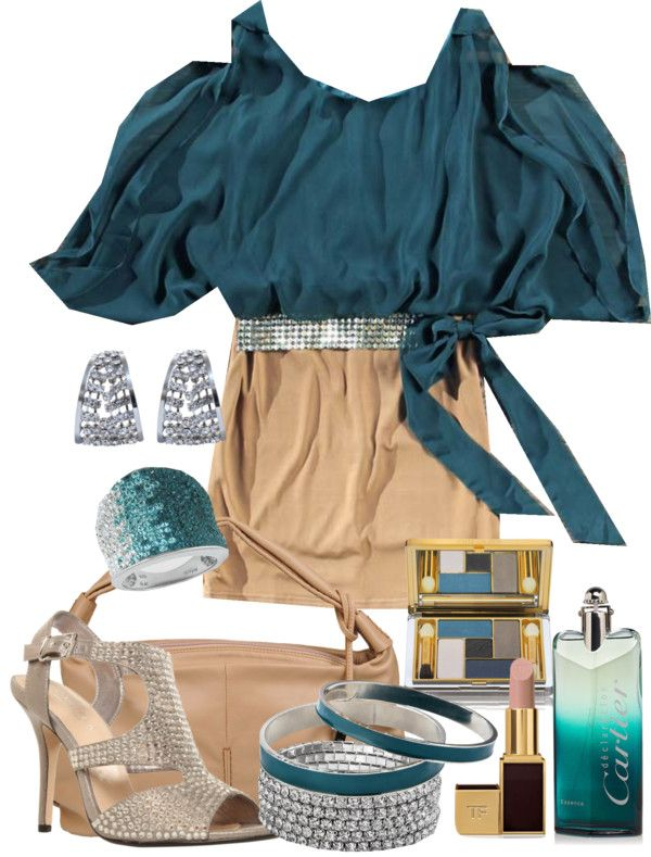 """Bangles with Teal"" by gangdise ❤ liked on Polyvore"
