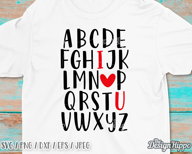 Download Abc I love you svg PNG I love you alphabet svg Teacher ...