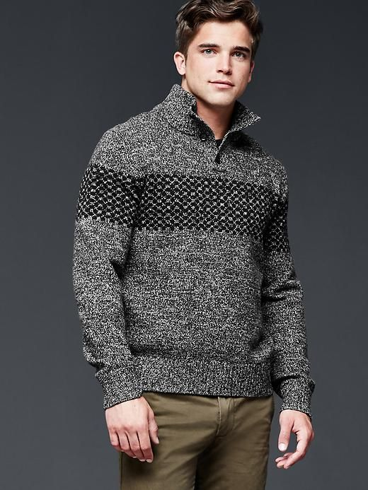 Lambswool fair isle mockneck sweater | Men's sweaters | Pinterest ...