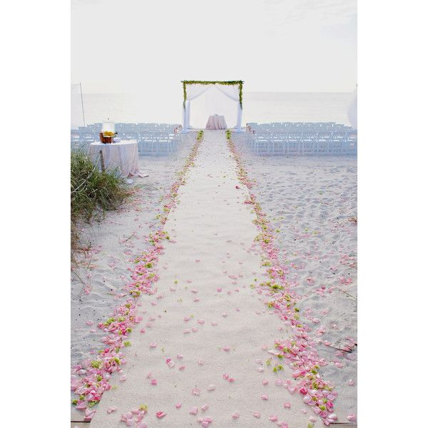 A Green and Pink Beach Wedding at the Ritz-Carlton, Naples in Naples,... ❤ liked on Polyvore featuring wedding