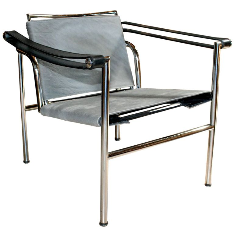 Le Corbusier Sling Chair LC1. France 1960 Great LC1 Sling Chair Upholstered  With Cowhide And