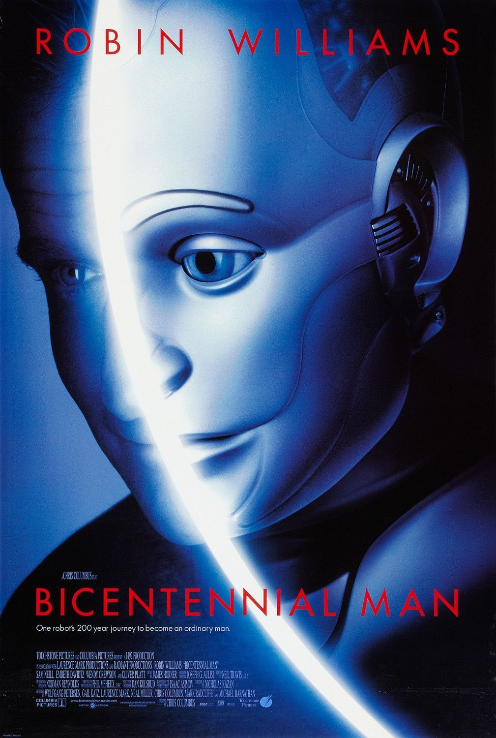 Bicentennial Man Extra Large Movie Poster Image Internet Movie Poster Awards Gallery Robin Williams Movies Bicentennial Man Robin Williams