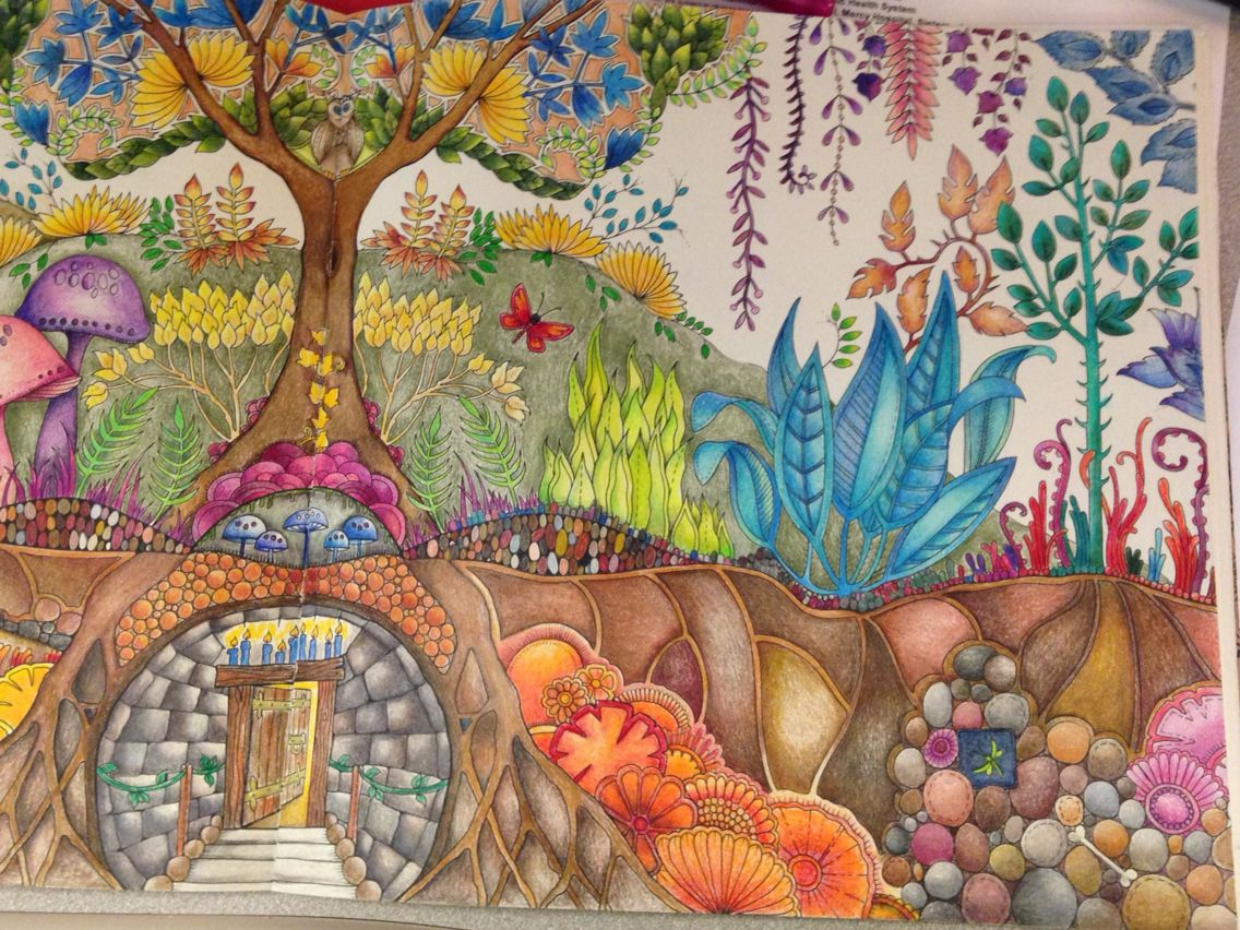 Enchanted Forest Johanna Basford Right Side Of Picture
