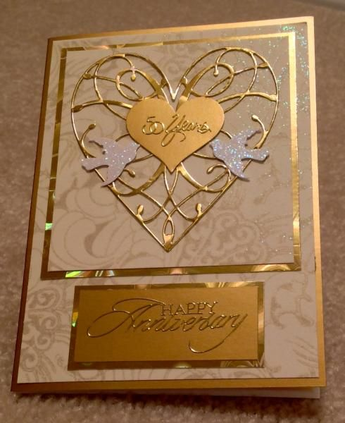 Golden anniversary card by cards joy and paper