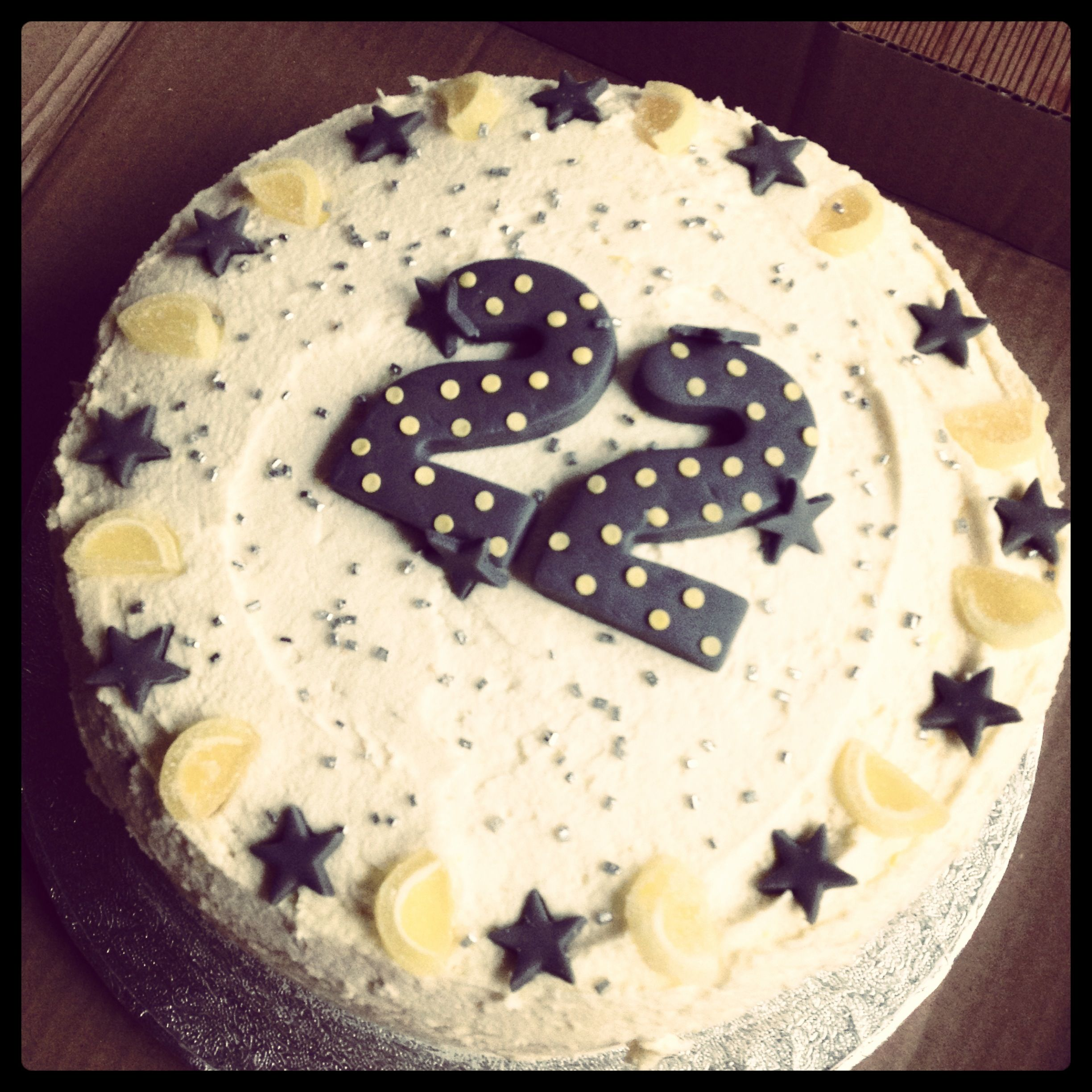22nd birthday boyfriend lemon cake, lemon buttercream and ...