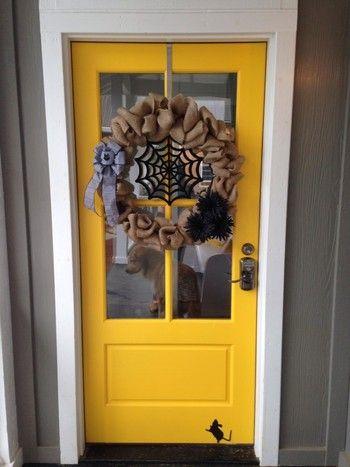 アイディアが光る オシャレなハロウィンの手作りインテリア集 玄関