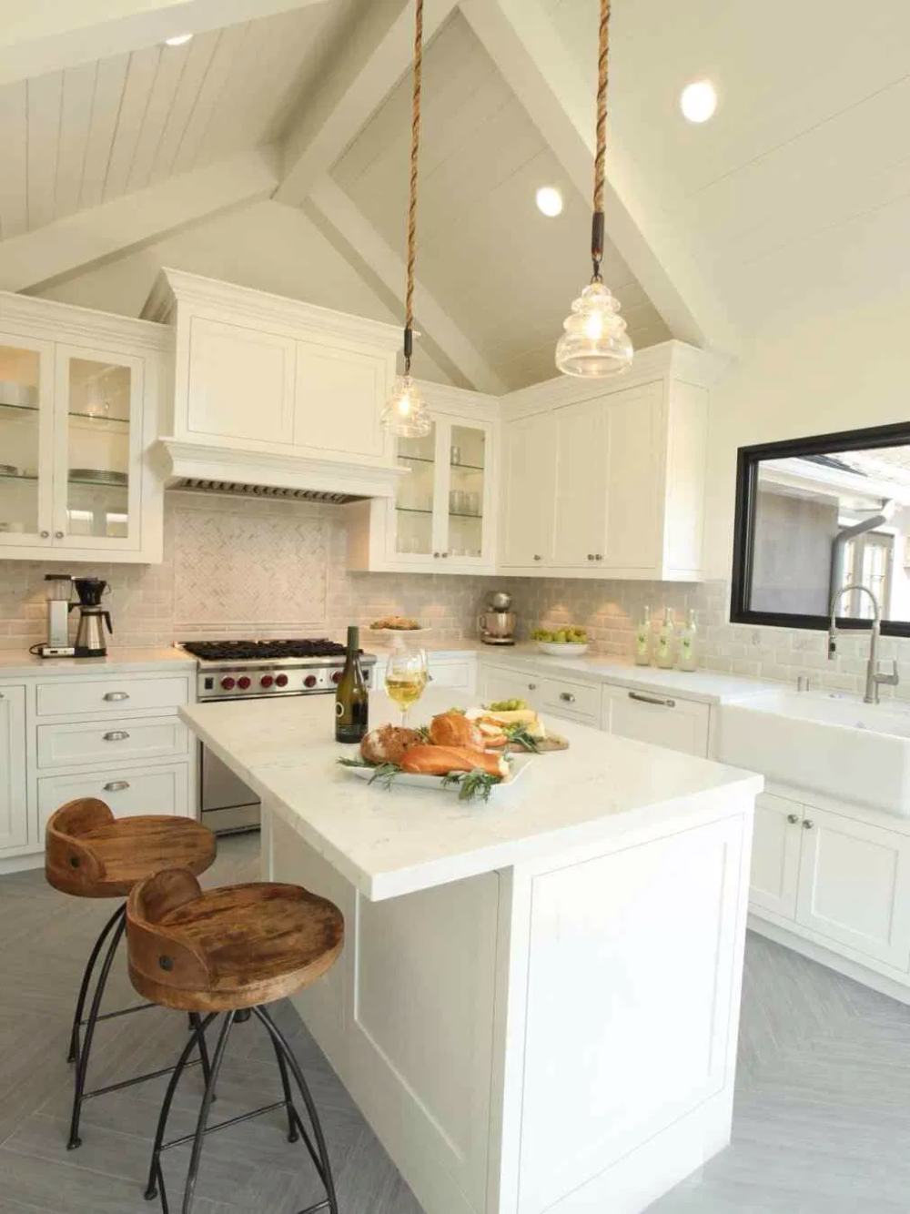 Small small kitchen with vaulted ceiling kitchens with ...