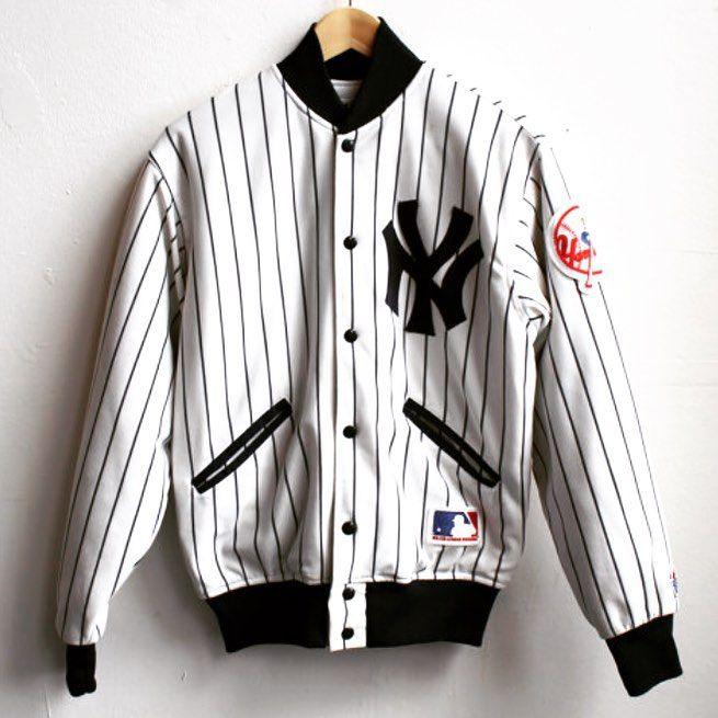 fc7e8b4cccb 1980's NY Yankees pinstripe jacket for sale on our etsy | Vintage ...