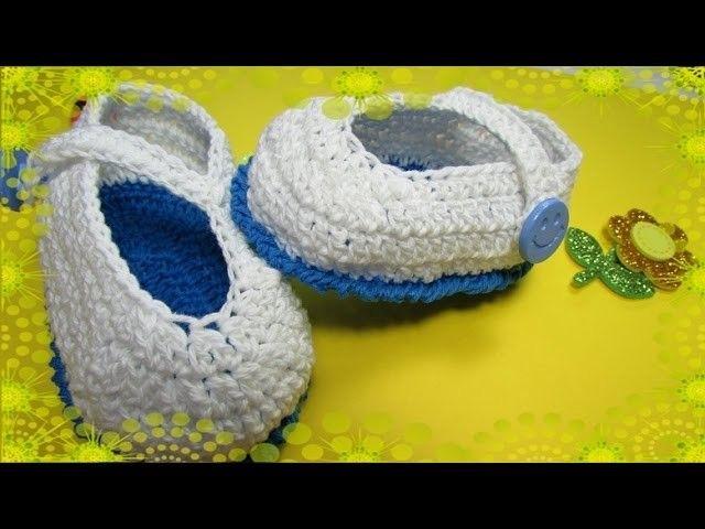 Zapatitos a crochet fácil para principiantes - Zapatitos Luna en ...