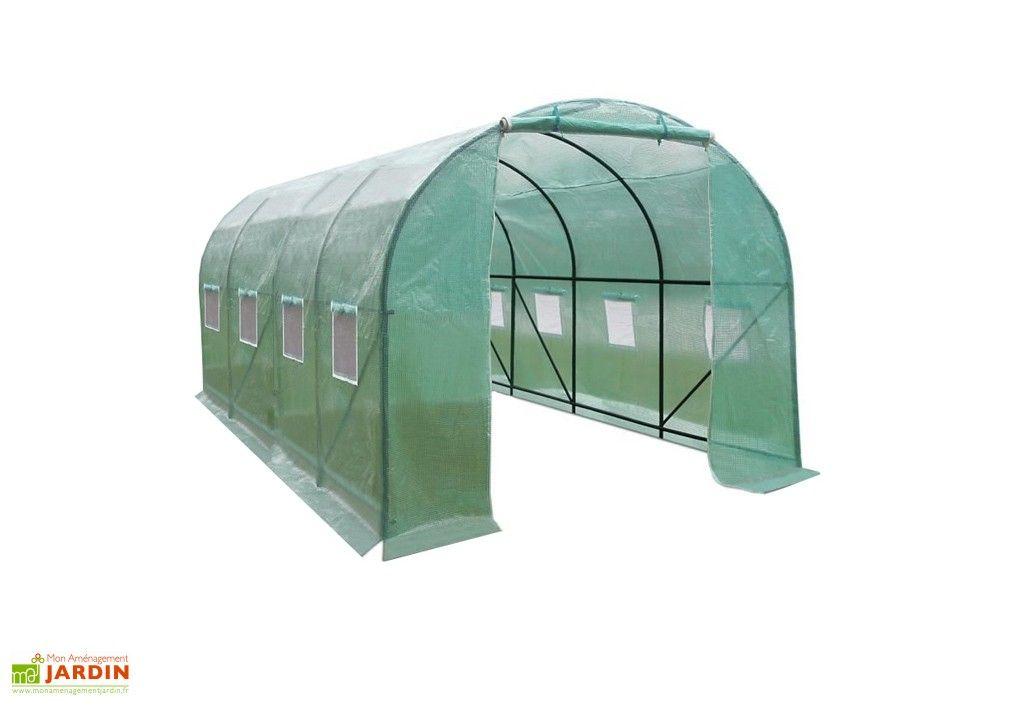 Serre De Jardin Tunnel 8m En Polyethylene Renforce Serre De Jardin Tunnel Serre Jardin Serre Polycarbonate