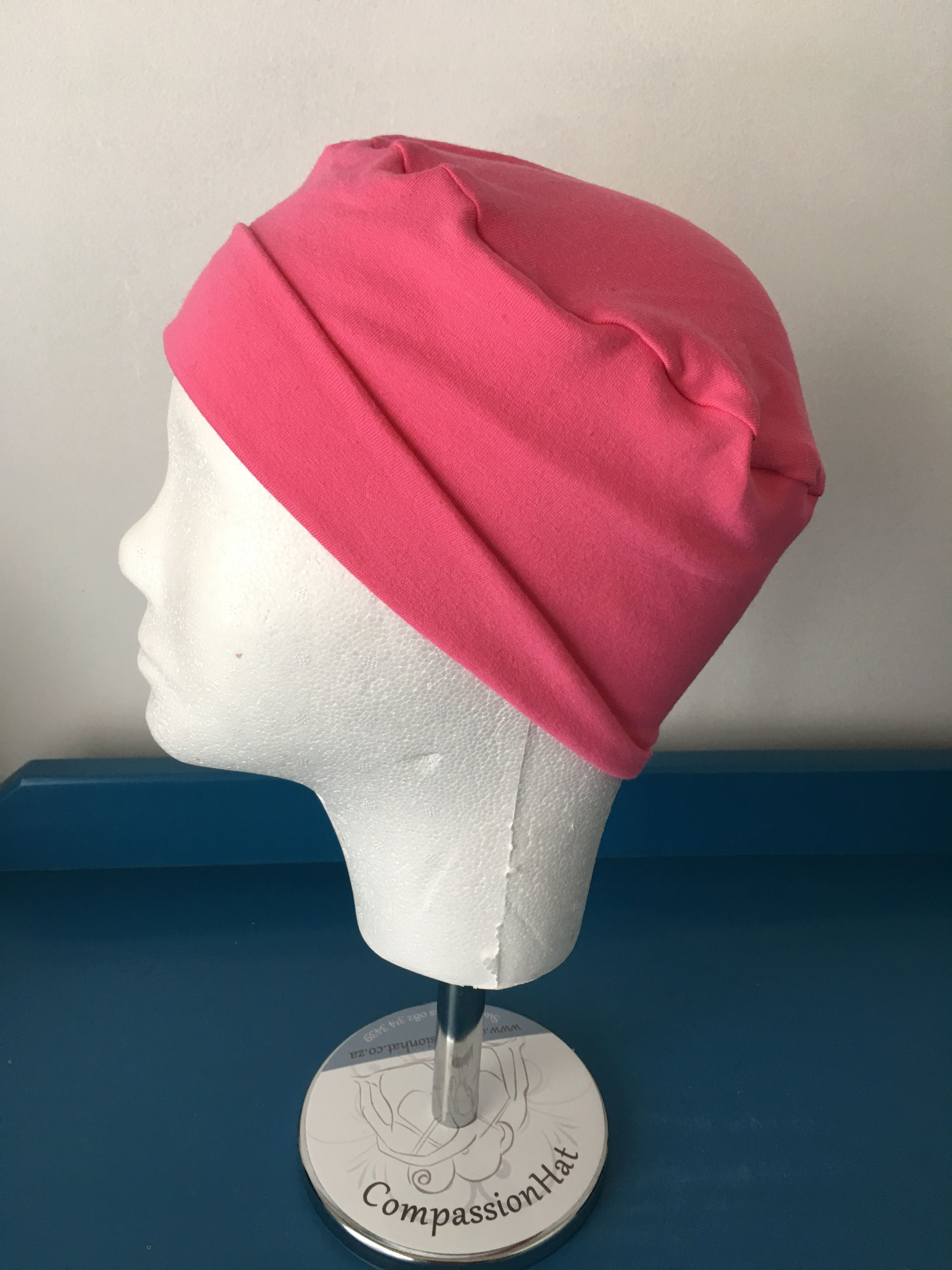 9841185f862 Pink sleep cap for girl. Comfortable enough to sleep in