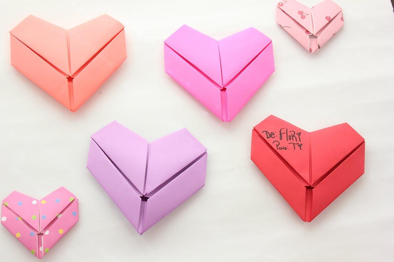 Dobla Tus Cartas En Forma De Corazón Detalle Rápido Origami Heart Card Formas De Cartas Carta De Corazon Formas De Corazón