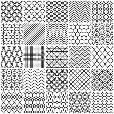 Set Of Simple Lines Patterns Mandala Design Pattern Line