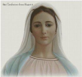 Schemi per il punto croce: Madonna di Medjugorje