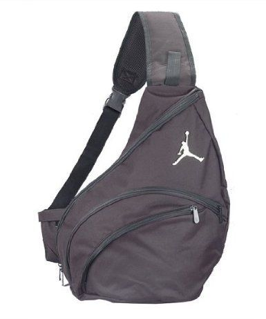 Nike Air Jordan Jumpman Sling Backpack Bag Black by Nike.  65.99. 3 zip  Compartments. Hanging strap. Adjustable padded straps. Black. 49d2b25a1d271