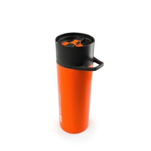 GSI Outdoors Glacier Stainless Commuter Javapress Orange French Press Coffee Mug