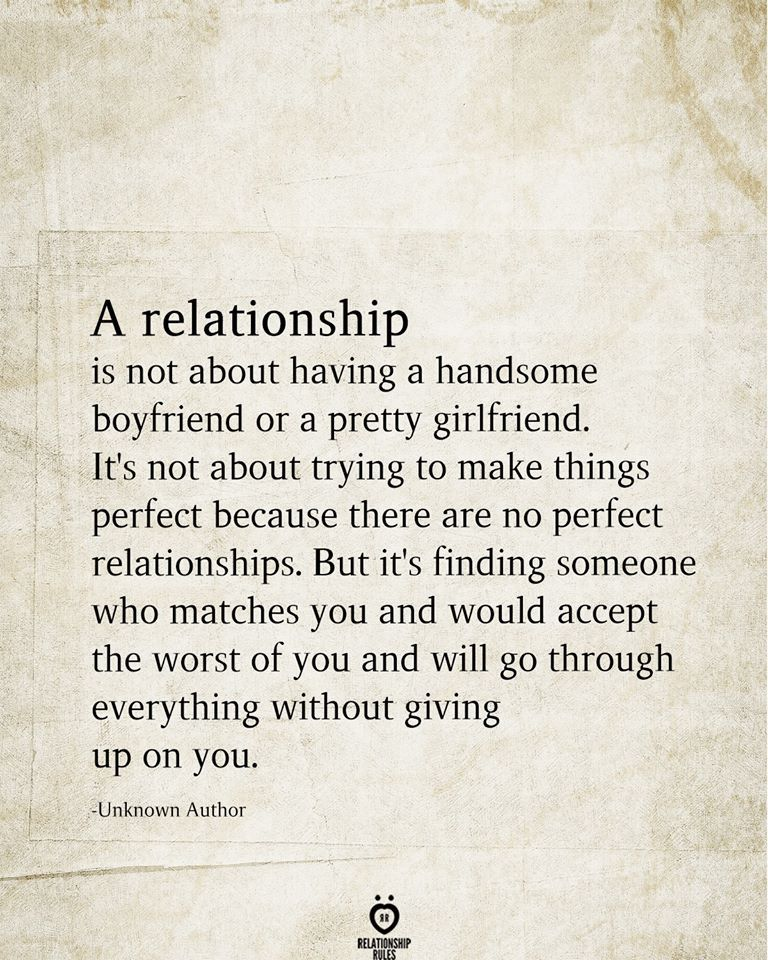 A Relationship Is Not About Having A Handsome Boyfriend Or A Pretty Girlfriend
