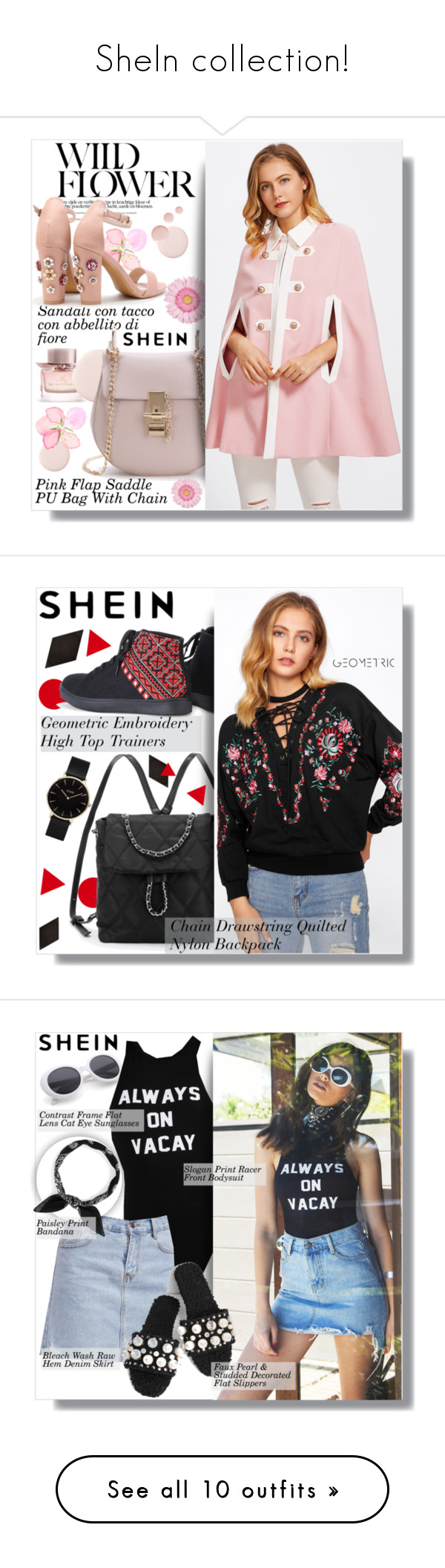 """""""SheIn collection!"""" by clumsy-dreamer ❤ liked on Polyvore featuring Burberry, Topshop, CLUSE, Merola and BOSS Black"""