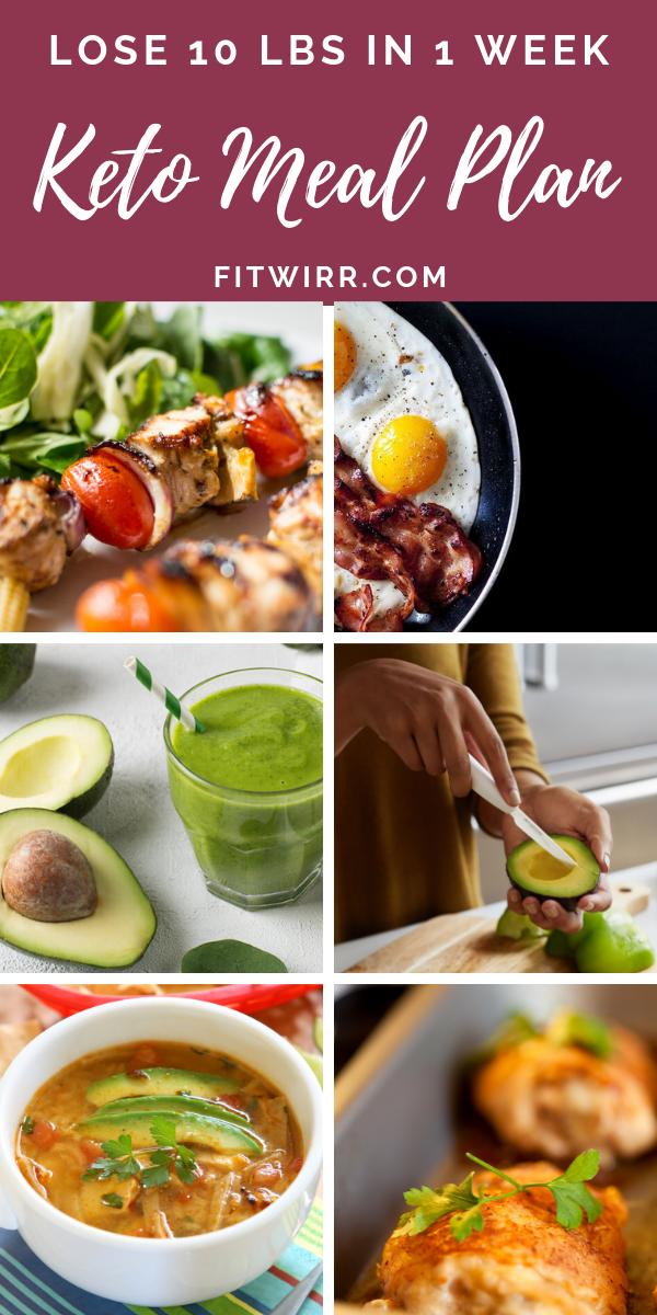 7 Day Keto Diet Plan To Lose 10 Pounds
