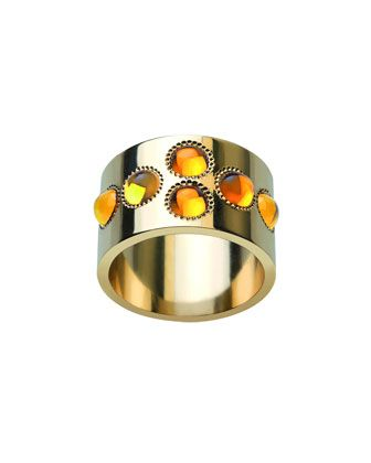 Petillante 18k Gold Amber Wide Ring by Lalique at Neiman Marcus.