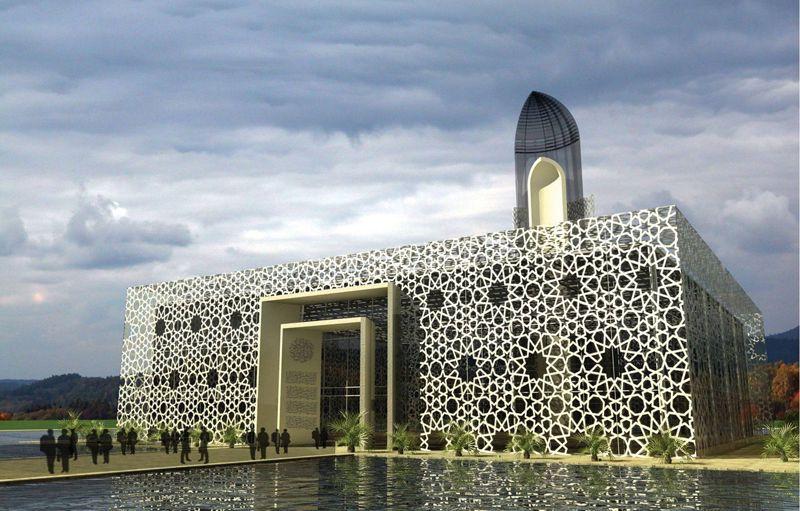Masjid modern google search mosque pinterest for Modern islamic building design