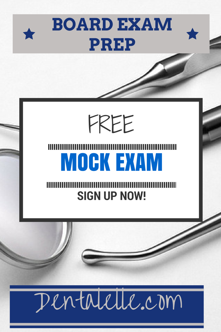FREE Mock Exam Questions here! Dental Assisting AND Dental