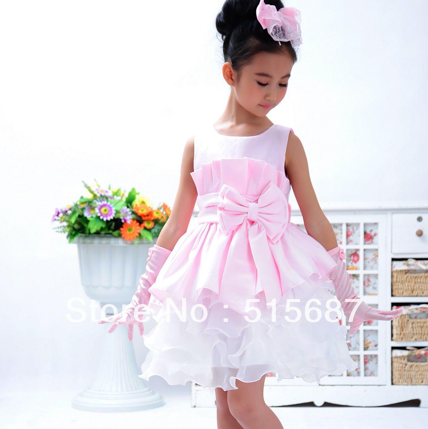 vestidos de fiesta para bebes de 2 años 2013 niña rosa vestido ...
