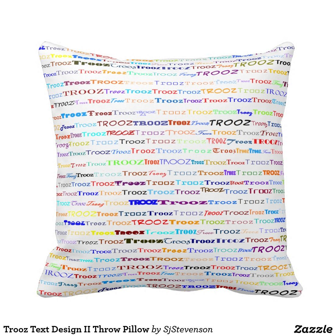 Trooz text design ii throw pillow text design throw pillows and