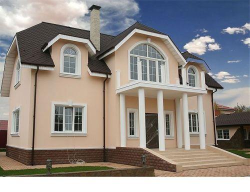 Оформление в классическом стиле фасадов домов