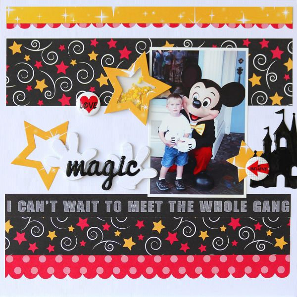 Travel Princesses Fun Books and Embellishments Disney Scrapbook Kit Fun Vacation Memories Multi Color Mickey Mouse Papers Hobby