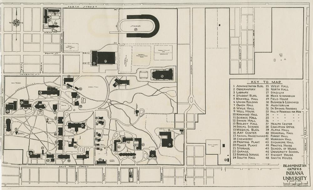 Indiana Campus Map.Campus Map Indiana University Historical Items Pinterest