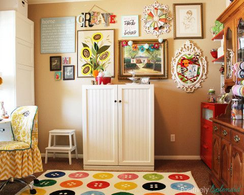 eclectic crafts room. Perfect Eclectic Bright And Eclectic Craft Room At Positively Splendid Inside Eclectic Crafts Room