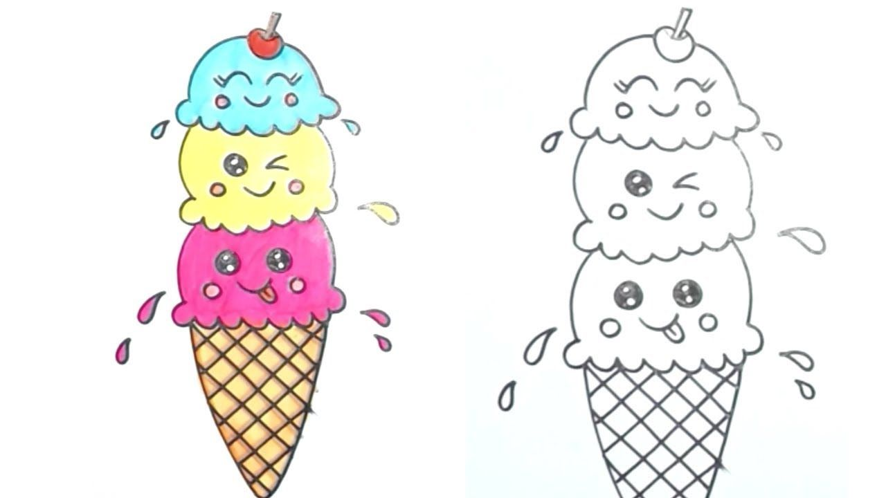 Pin On How To Draw For Kids Ice cream cone stripe set drawing. pin on how to draw for kids