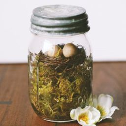 Natural easter fun sea salt lavender apothecary blog natural create this simple easter mason jar decoration with just a few simple materials negle Image collections