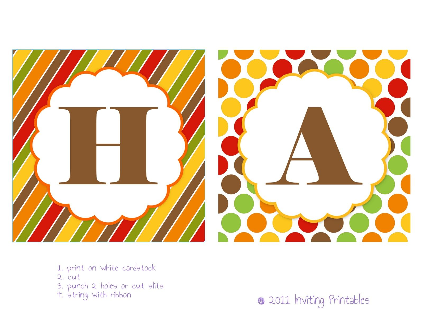 graphic relating to Fall Banner Printable identified as Inviting Printables: Tumble Freebie: \