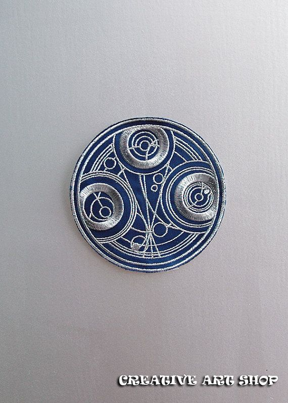 Inspired Doctor Who Seal Of Gallifrey Sewiron On Patch The