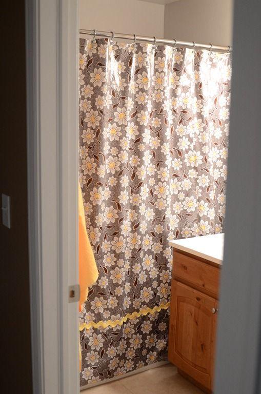 Laminate Shower Curtain Tutorial Diy Shower Curtain Fabric
